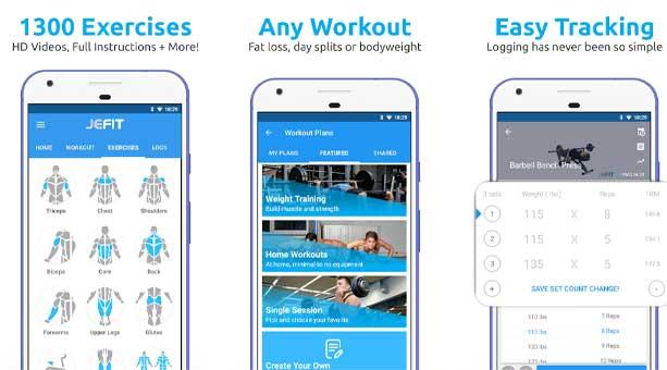 en iyi fitness uygulaması JEFIT Workout - Spor Takip uygulaması