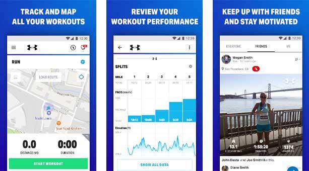 fitness uygulaması Map My Fitness - Egzersiz Eğitmeni