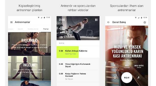 antrenman ve fitness uygulaması Nike Training Club – Antrenman ve Fitness Planı