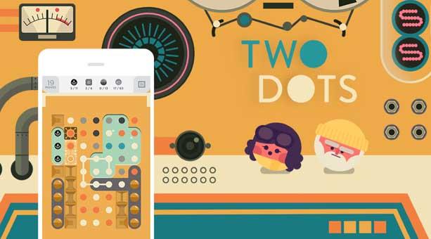 Two Dots Android için en iyi zeka oyunu